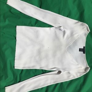 The Limited Ivory Long Sleeve Stretch Top